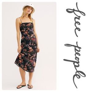 $98 Free People Beach Party Midi Dress In Black